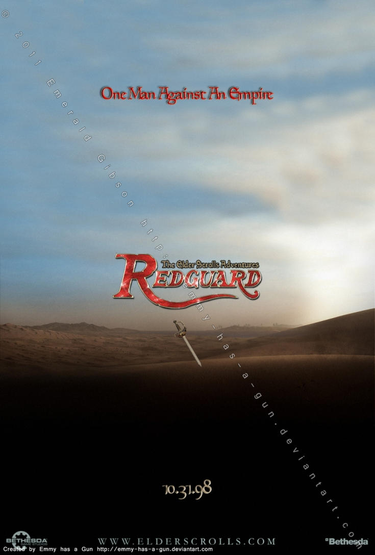 TES: Redguard Poster by Emmy-has-a-Gun