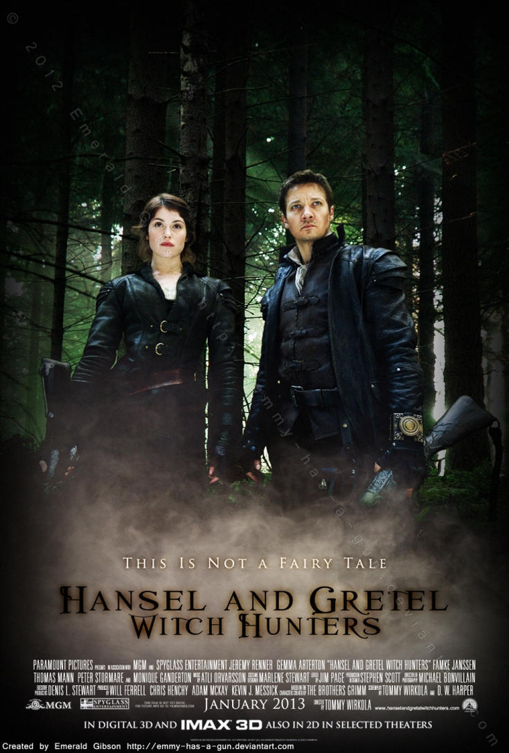 hansel and gretel witch hunters posteremmy-has-a-gun on deviantart