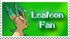 Leafeon fan stamp by Animus-Seed