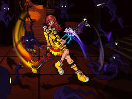 Kairi master form battle by darksorasan