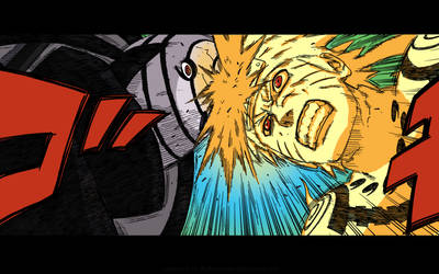 Naruto 563 - Headbutting Tobi by darksorasan