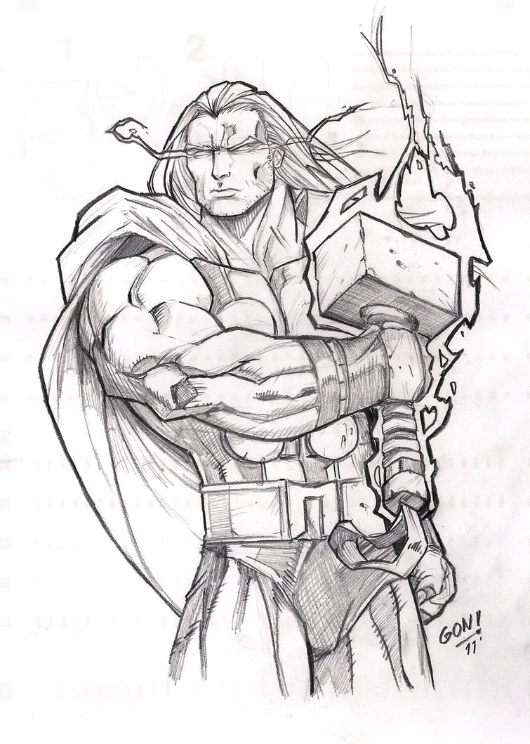 easy thor drawings - photo #9