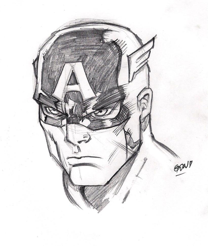 Captain America Face by pollomaxx