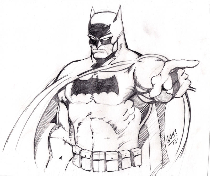 Batman Dark Knight Returns Sketch by pollomaxx