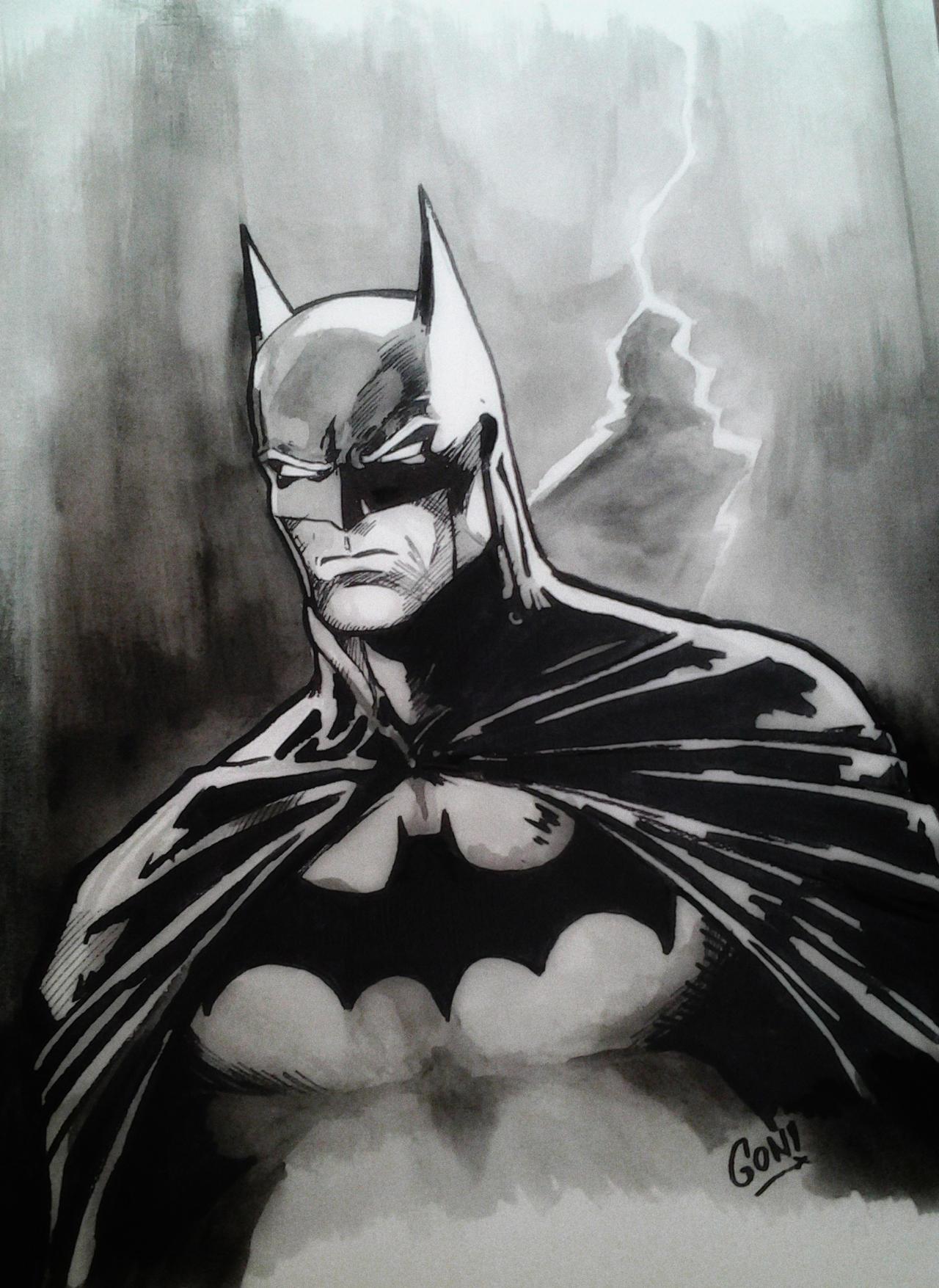 Batman Acuarelas by pollomaxx