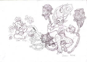 zeen evil  and baby by Black-Lepus