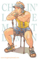 Pin up - Bondi guy on chair by keigo-mak
