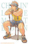 Pin up - Bondi guy on chair