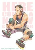 Pin up - Wrestling dude by keigo-mak