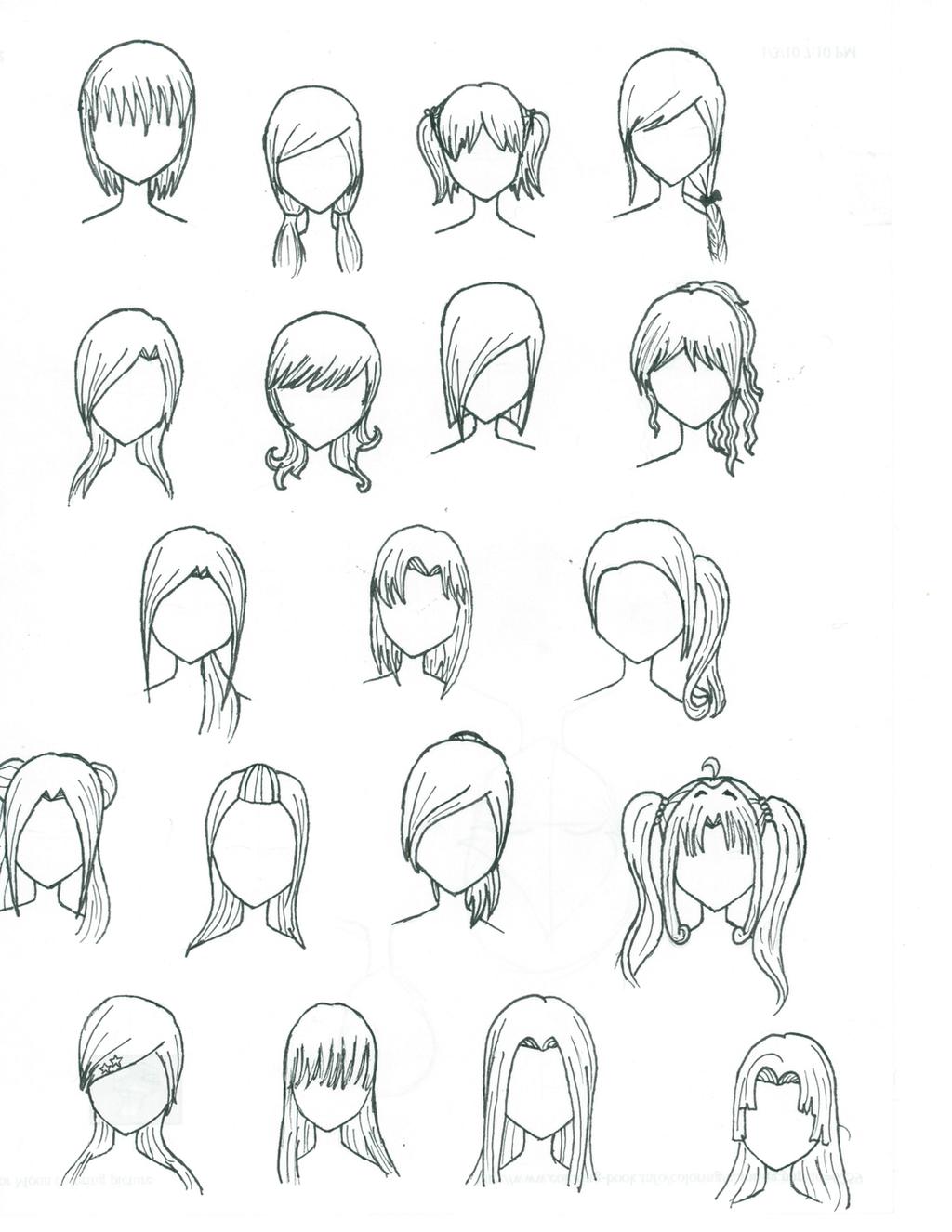 Аниме прически для девушек с длинными волосами