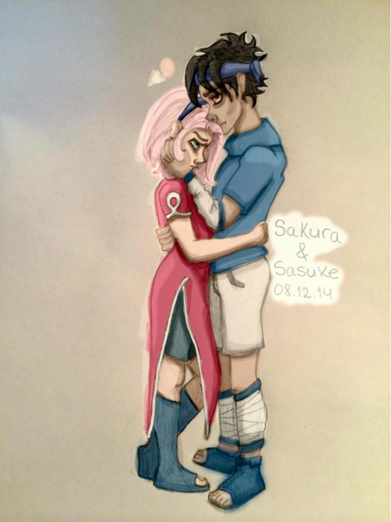 Sakura and Sasuke by CamiGDrocker