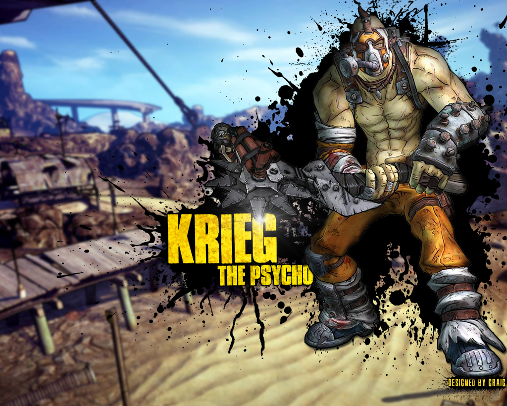 Krieg The Psycho Borderlands 2 Wallpaper By