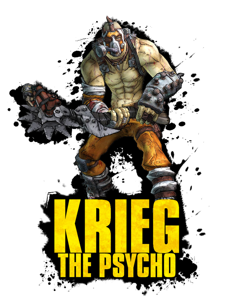 Krieg The Psycho Borderlands 2 Wallpaper By: Krieg The Psycho By ThatCraigFellow On