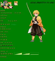 Zenitsu Agatsuma JUS - Sprite Sheet