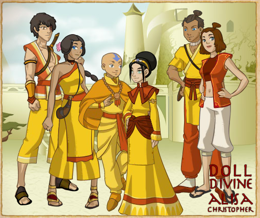 Team Avatar: Team Avatar Couples Air Nomads By Moon-shining-wolf On