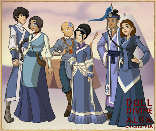 Moon In Avatar Movie: Team Avatar Couples Southen Water Tribe By Moon-shining