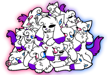 Kittydogs p2u base but it's a crystal recoloured by Savvy-Friends