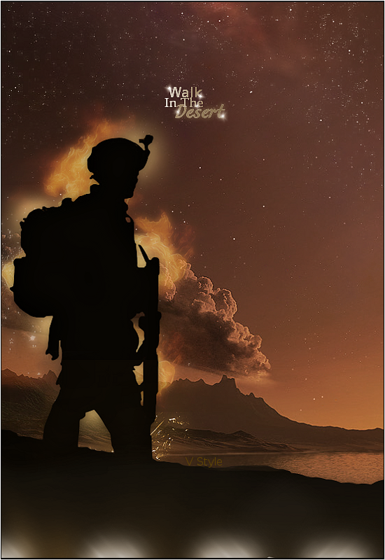 Lost In The Desert V1 by Graphfun