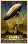Steampunk Vintage Travel Poster - Rosendahl
