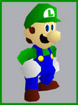 Super Mario 64 style Luigi