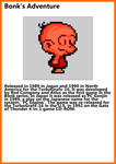 Bonk's Adventure TurboGrafx compendium Poster
