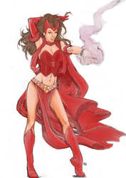 Scarlet witch by Squibblenuts