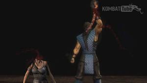 Lara Croft spine rip death