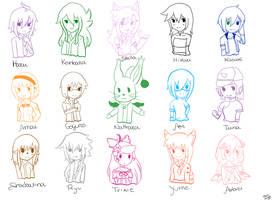 15 Overseas UTAU by Haru-Shonta