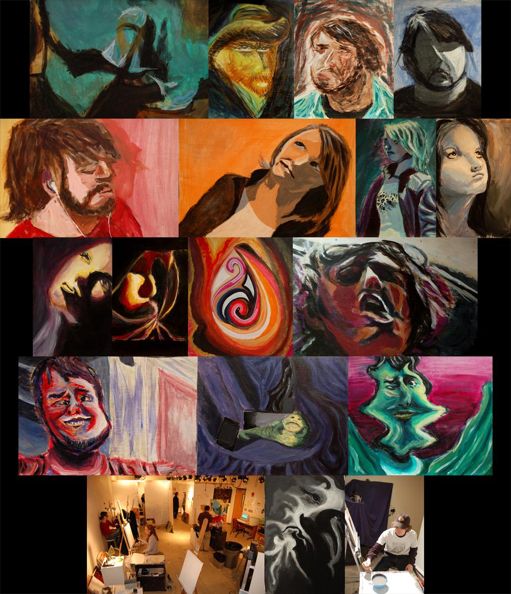 Progression of Paintings by Genesis-Orbit