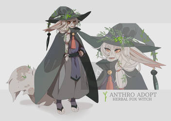 Herbal Fox Witch Adopt Auction [24 HOURS] SOLD by Kel-Del
