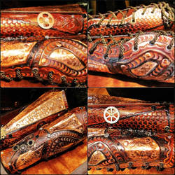 Steampunk Bracers by BadLukArt