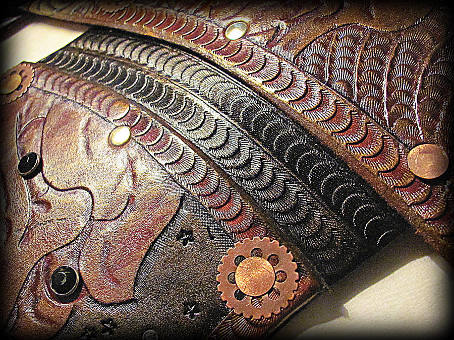 Leather Steampunk Armor by BadLukArt