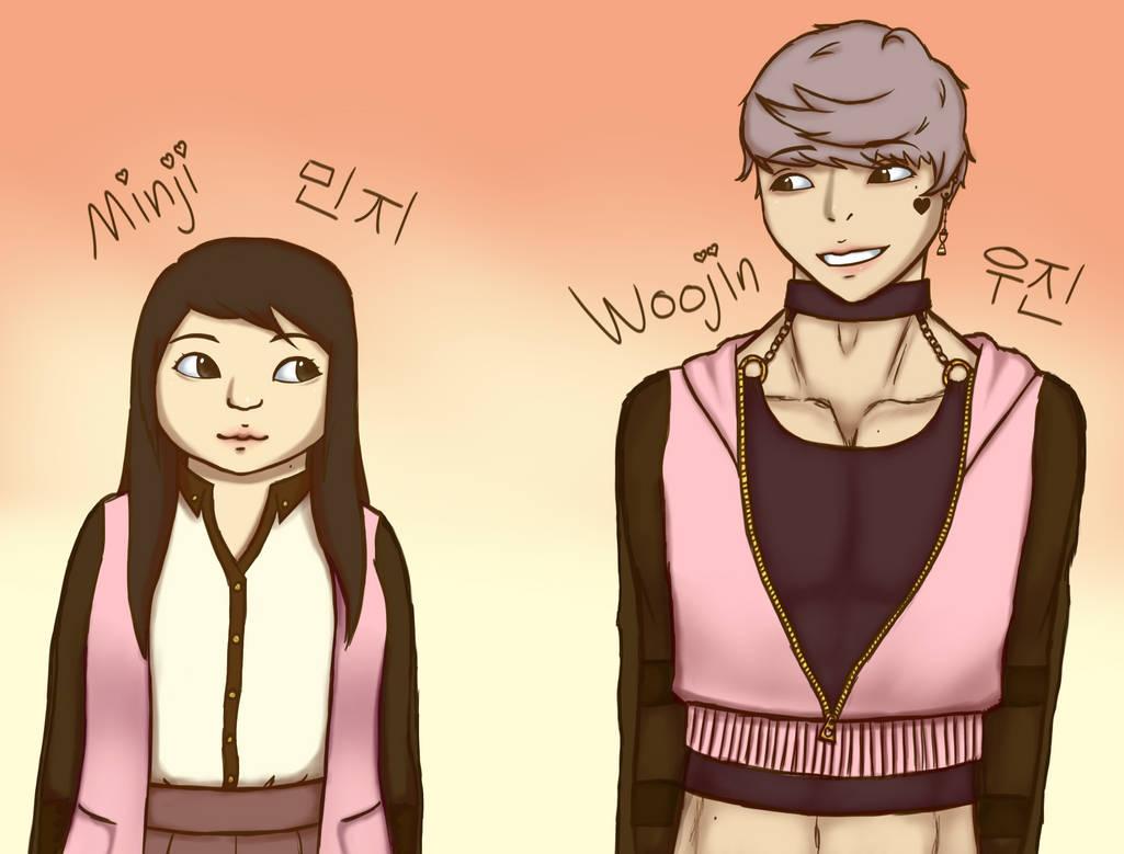 Minji and Woojin -colored-