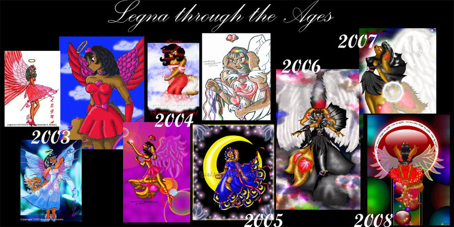 Legna Through the Ages by AngelicEmpyress