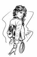 Wonder Woman Sketch by SPIDERLAL