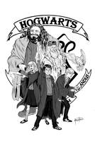 Harry Potter and the Hogwarts Crew by SPIDERLAL