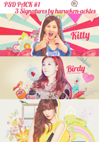 PSD PACK #1 3 Signatures by huruekrn-ackles