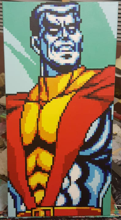 Colossus Pixel Art Painting
