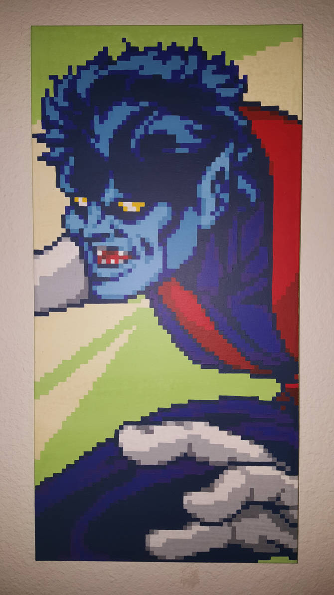 Nightcrawler Pixel Painting