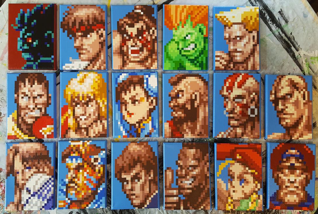 17 Fighters. by PixelArtPaintings