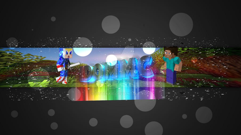 Minecraft Youtube Banner Idommc By Itstekkie On Deviantart