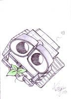 Wall-E by kawaiidogpoo