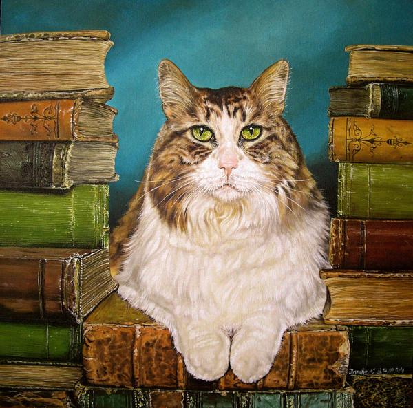 cat scientist by Animal75Artist