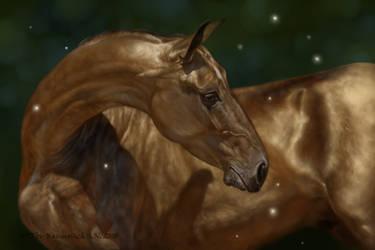 Akhal-Teke gold by Animal75Artist