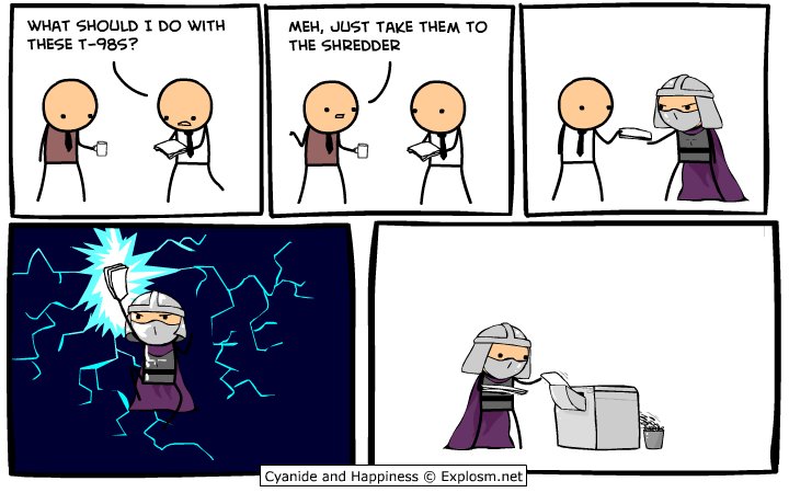 revenge of the shredder! by DaSpecialist