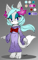 Miyuki the Arctic Fox by NamiNeri
