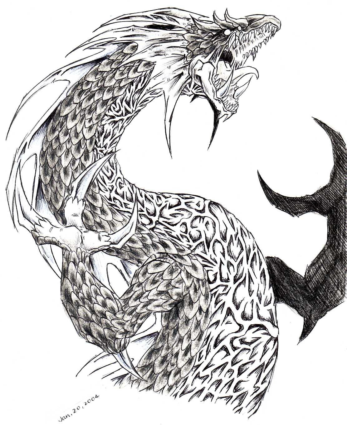 evil dragon by Dokuro on DeviantArt