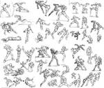 Lost art- Action poses