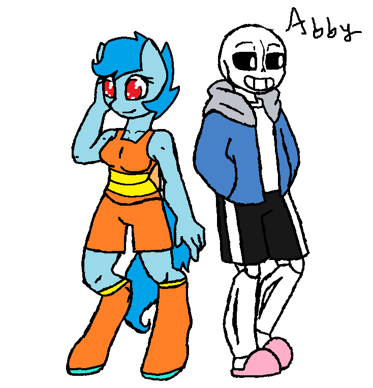Abby And Sans Original By Scootaloo Loves Sans By Abbythetracerfox On Deviantart If someone can show this to her and put the. sans original by scootaloo loves sans