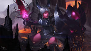 Demon Leona SplashArt by RaphaelBauduin